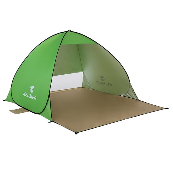 Keumer Outdoor Beach Tent 1-2 Person Pop Up Open Tent Portable Waterproof Uv Protective Tent Shelter For Camping Fishing