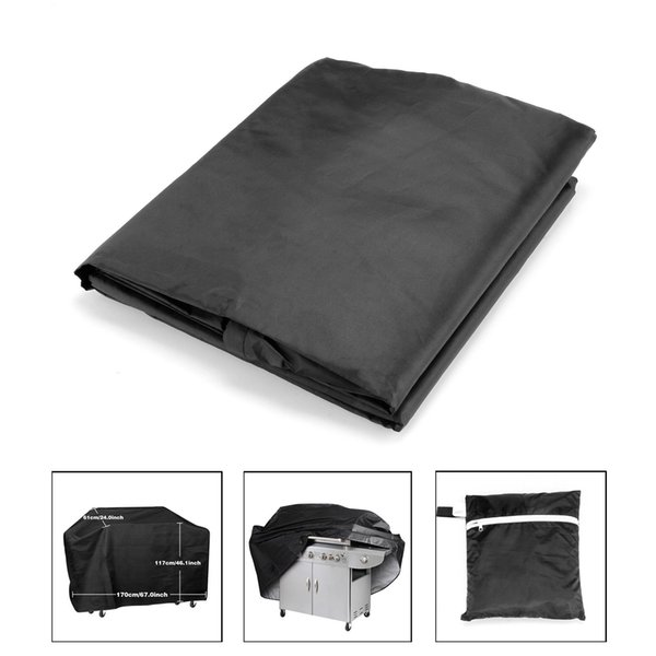 """Wholesale Large size 67"""" Waterproof Patio BBQ Cover Outdoor Garden Barbeque Grill Storage Protector,Black Color"""