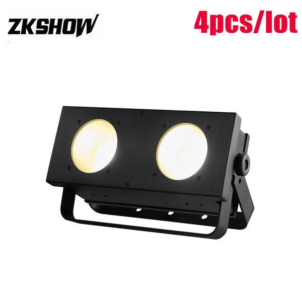 80% Discount 2*30W RGB COB LED Matrix Blinder Light DJ Disco Party Wedding Audience Porojector 80W TV Show Stage Lighting 230V Free Shipping