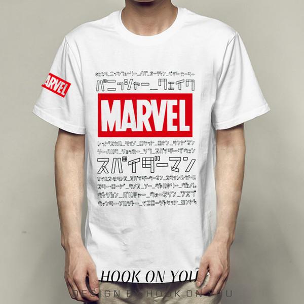 Marvel t shirt All language short sleeve gown MCU words tees Unisex clothing Quality modal Tshirt