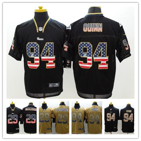 sports shoes 062ab 72817 2018 New Mens 94 Robert Quinn Los Angeles Jersey Rams Football Jerseys 100%  Stitched Embroidery Rams 29 Eric Dickerson Color Rush Football Shirt From  ...