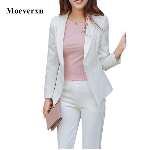 Women's Business Set 2017 New Pant Suits Costumes for Women Office Business Suits Formal Work Wear Sets Uniform Styles Pantsuit