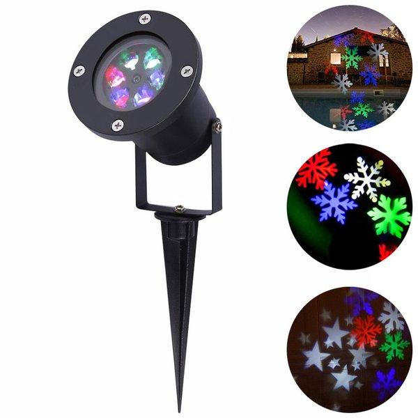 YouOKLight 1PCS 12W Decoración navideña Luces de escenario LED para exteriores a prueba de agua RGB / White Christmas Laser Snowflake Projector Lamp AC 100 - 240V