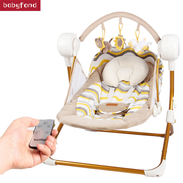 Magnificent 2019 Primi Electric Baby Rocking Chair Child Swing Automatic Cradle Bed Placarders Baby Chaise Lounge Hanging Chair Baby From Babypstore 201 01 Andrewgaddart Wooden Chair Designs For Living Room Andrewgaddartcom