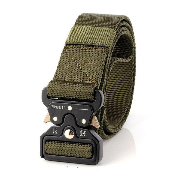 2017 New Fashion 3.8 CM Unisex Army Tactical Waist Belt Jeans Male Casual Canvas Webbing Nylon Duty Belt,Can be custom-made logo