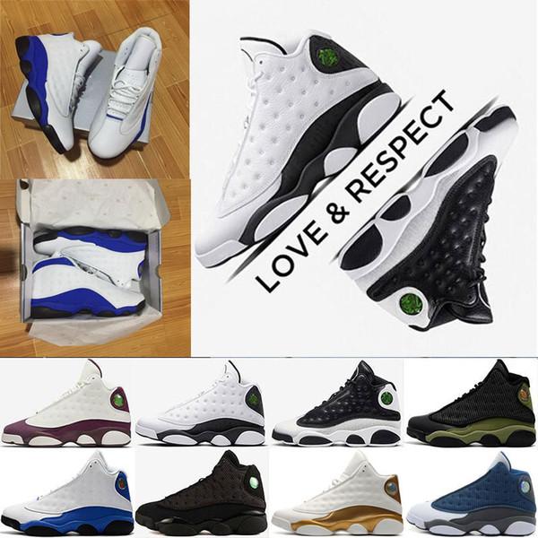 2018 men basketball shoes 13 13s Melo Oak Hill black cat Hyper Royal olive Wheat GS Bordeaux DMP Chicago sports Sneaker trainers size7-13