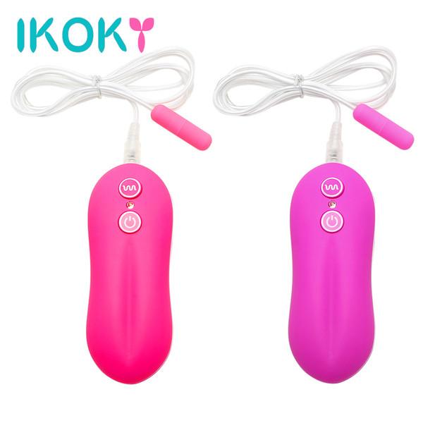 IKOKY G-Spot Massager Sex Toys for Women 10 Speed Mini Bullet Vibrator Vibrating Egg Urethral Plug Vibrator Remote Control D18111502