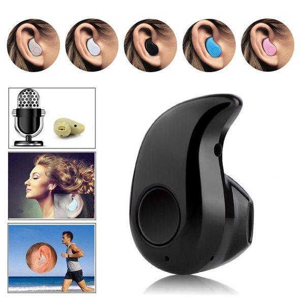 Mini Wireless Bluetooth 4.0 Stereo In-Ear Headset Earphone For Samsung iphone E27