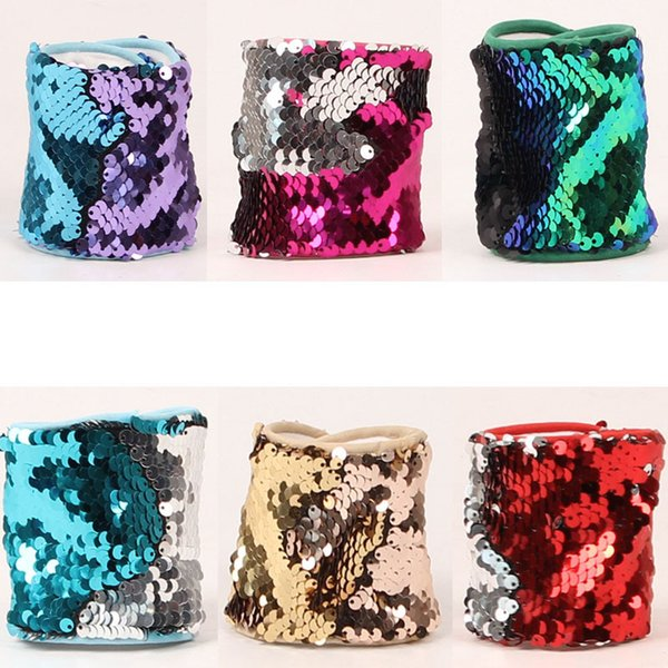 Rainbery 2018 Fashion Latest Custom Personalized Mermaid Sequin Bracelet Metal Scales Brand New Wrap Bracelet