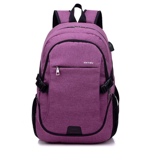 2018 Fashion Men Backpacks canvas Bags For Teenagers girls 15.6 Inch Laptop Bag Backpack USB Large Capacity casual Backapck