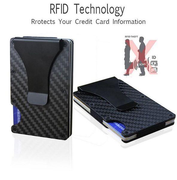 New Arrival mens Money Clip Aluminum RFID Mini Purse Handbag Wholesale Smail Traver Wallet Hot Sale