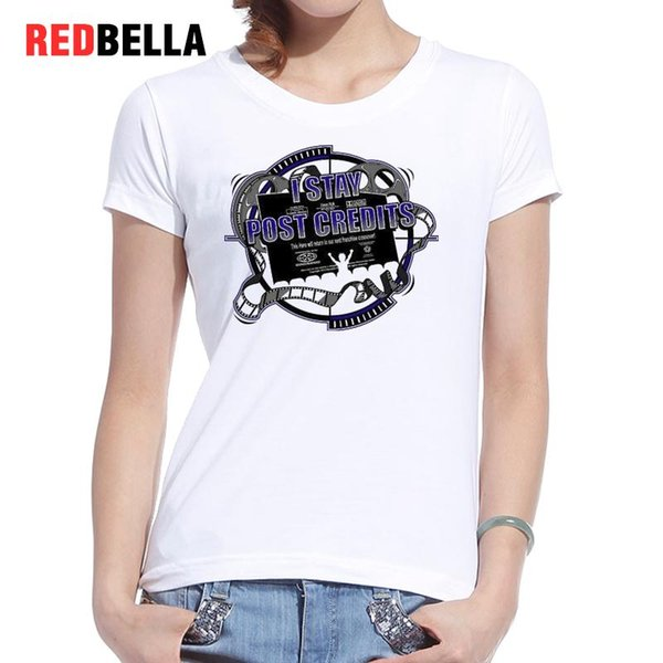 Women's Tee Redbella Graphic Tees Women Marvel Movies Vintage Design Letters Printing Tshirt Harajuku Ulzzang Daily Casual Female Tops Sale