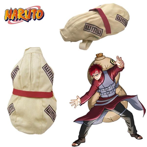Japonya Anime Naruto Hokage Ninjia Sabaku No Gaara Cadılar Bayramı Cosplay Aksesuarları Prop Tuval Sukabağı Çanta Oyuncak