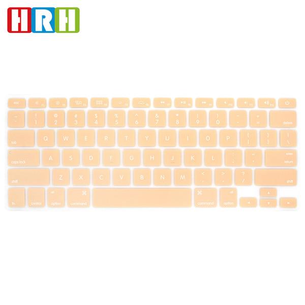 "Fashion Cream Color Silicone Keyboard Skin Cover for Macbook Air Pro Retina Display 13"" 15"" 17"" English Keyboard Protector"