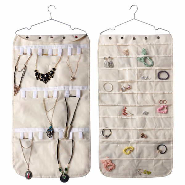 Large Capacity Jewelry Holder Display Bags Non-woven Fabric Hanging Storage Bag For Necklace Bracelet Earring Ring Organizer