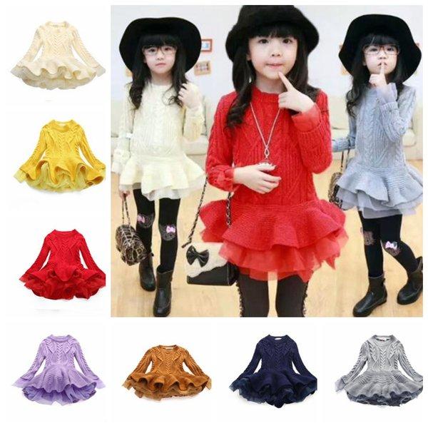 купить оптом 7 цветных девочек девушки вязать свитер платья O