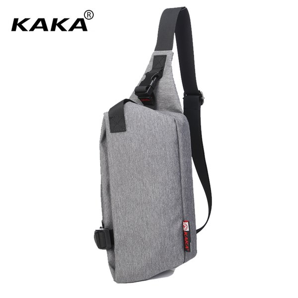KAKA Fashion 2017 Unisex Men Women Messenger Bags Chest packs Cross Body Bags High Quality 5 Colors Shoulder Bags for Ipad Mini