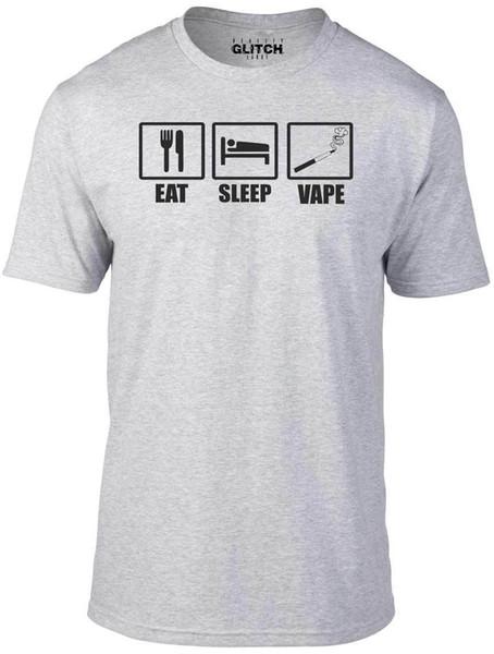 Men's Eat Sleep Vape T-Shirt - Funny GIFT LIQUID SMOKE MACHINE FLAVOUR VAPE Funny free shipping Unisex Casual tee gift