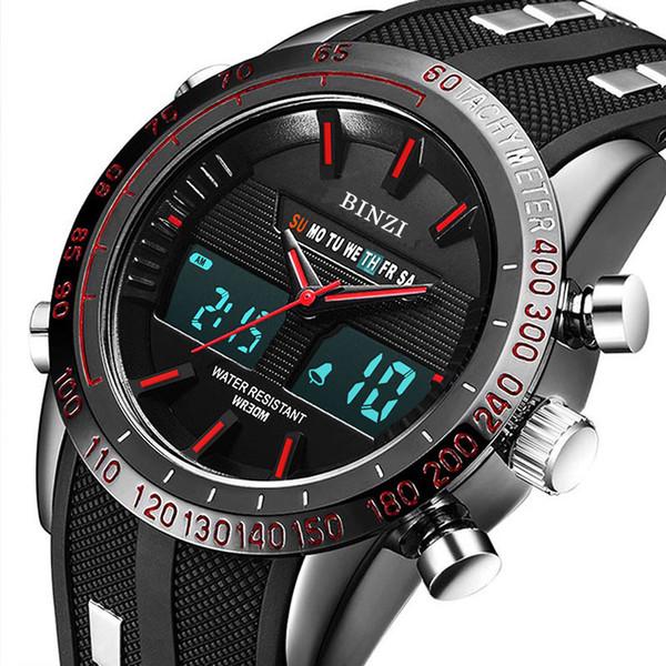 BINZI Digital Sport Watch Men Electronic Military Luxury Male Watches LED Men Clock Casual Brand Wrist Watch Relogio Masculino Y1892507