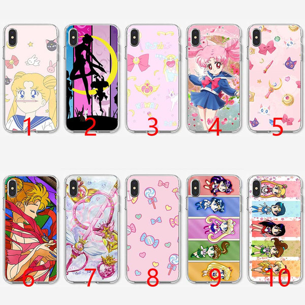 Sailor Moon Crystal Cute Version funny Soft Silicone TPU Phone Case for iPhone 5 5S SE 6 6S 7 8 Plus X XR XS Max Cover