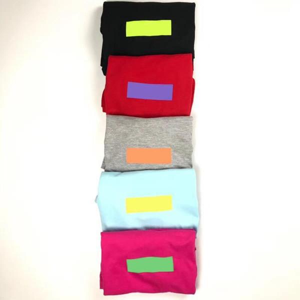 18ss KUTUSU LOGOSU Moda Tee Yeni Trend Şeker Renkler T-shirt Kısa Kollu Pamuk Tee Erkekler Kadınlar Yaz Yüksek Kaliteli T-shirt HFWPTX112