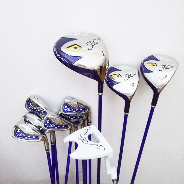 New women golf club maruman fl iii golf complete et of club driver fairway wood putter graphite golf haft hipping