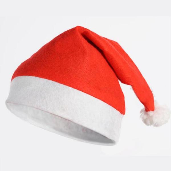Chapéu de Papai Noel vermelho Ultra Macio de Pelúcia Natal Cosplay Chapéus Decoração de Natal Adultos Festa de Natal Chapéus LX4172