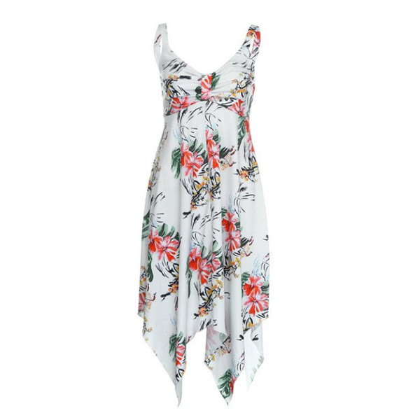 Hot Sale Casual Dresses Womens Ladies Summer Floral Party Holiday Beach Sundress Dress Print Dress Vestido Plus Size