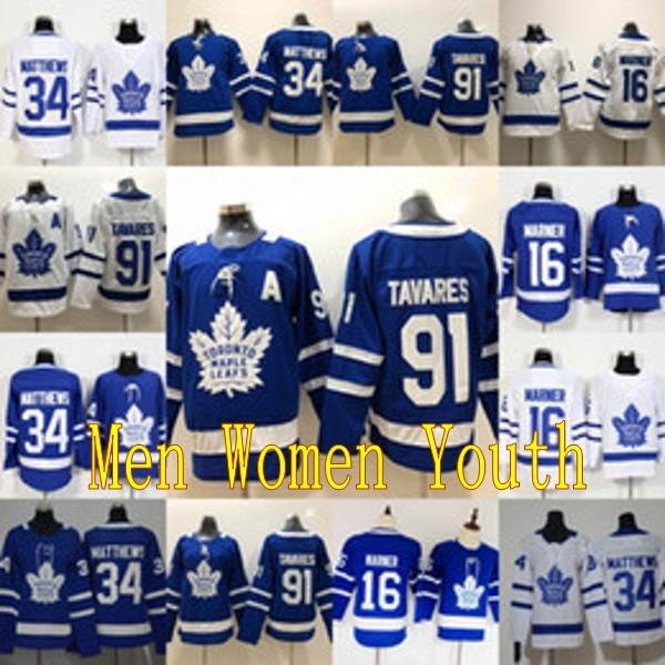 91 john tavare a i tant a patch toronto maple leaf mitch 16 marner 34 au ton matthew hockey jer ey men women youth kid double titched, Black;red