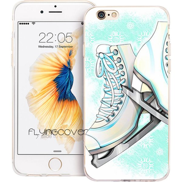 Ice Skating Sport Clear Soft TPU Silicone Fundas Cases for iPhone 10 X 7 8 Plus 5S 5 SE 6 6S Plus 5C 4S 4 iPod Touch 6 5 Cover.