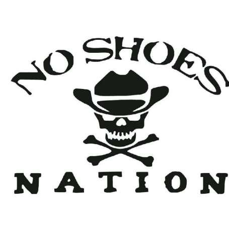 15.2CM*11CM No Shoes Nation Die Cut Vinyl Kenny Chesney Car Stickers And Decals Motorcycle Car Styling Black/Sliver C8-1429