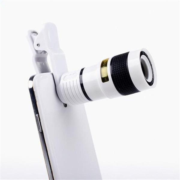 Lentille longue focale zoom objectif Loin haute définition Angle sombre Téléphone portable universel Len externe avec huit fois miroir 9gf ff