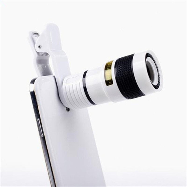 Long Focus Zoom Camera Lens Far Away High Definition Dark Angle Unniversal Optical Mobile Phone Len External With Eight Times Mirror 9gf ff