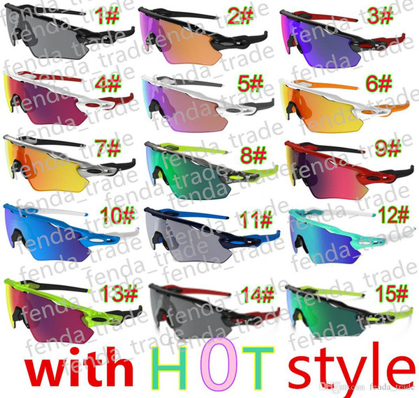 Designer brand 9298 summer man sport Cycling sunglasses spectacles women Bicycle goggle Sports Outdoor colours Sun Glasses 15 colors AAA+