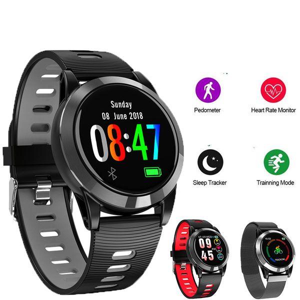Rastreador de fitness homens mulheres esporte ip68 pulseira inteligente à prova d 'água com monitor de freqüência cardíaca / bluetooth camera / music control para ios android