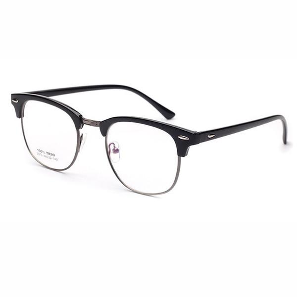 2439958320fa 2018 New TR90 + metal anti-radiation Eyeglasses Frames Men Women Optical  Plain Mirror Eye