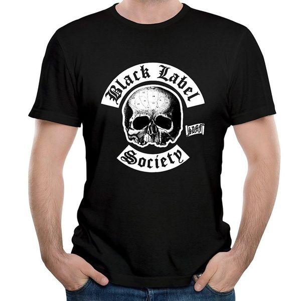 Graphic Tees Venda Sua Própria Banda De Metal Preto Labelocietyour Gráfico Dos Homens Novo Estilo O-pescoço Curto-Luva Camiseta