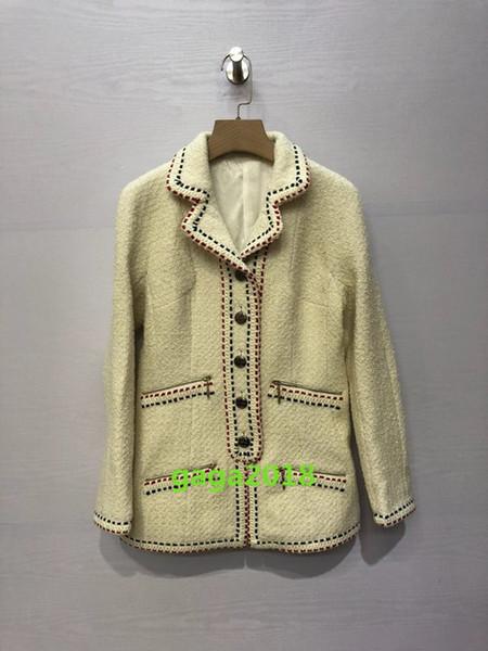 Chaqueta de tweed de lana de niña de mujer color de la mezcla Forro de seda para dama de fiesta usar chaqueta de gama alta canal mujer bombardero Viscosa traje de chaqueta
