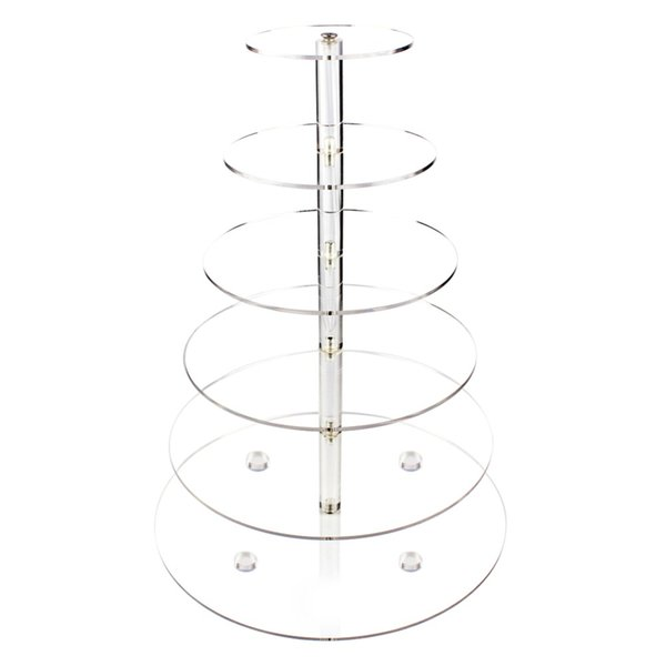 Free DHL/EMS Large Cupcake Stands 6 Tier Cake Stand for Wedding Acrylic Stands Brithday Party Cake Decoration Supply