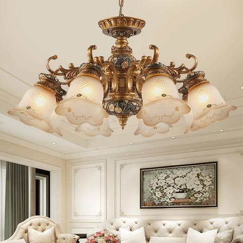 Pendant lamps North European pendant chandelier light elegant luxury retro American royal fancy led pendant lighting with lighting bulbs