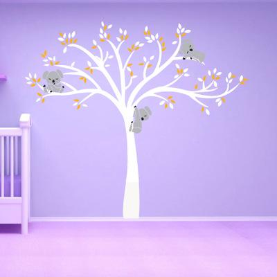 Bulk Lots Koala Tree Wall Stickers Wallpaper Wall Picture Art Room Home Decor Kitchen Accessories Household Crafts Suppllies