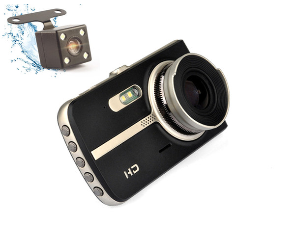 """Super night vision car DVR recorder vehicle driving video camera 4"""" IPS display 170° wide view angle full HD 1080P 2Ch G-sensor WDR"""