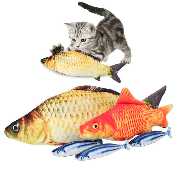 cat toy fish pet simulation favor fish pet kitten cushion grass cat mint catnip toys funny chew scratch mint stuffed