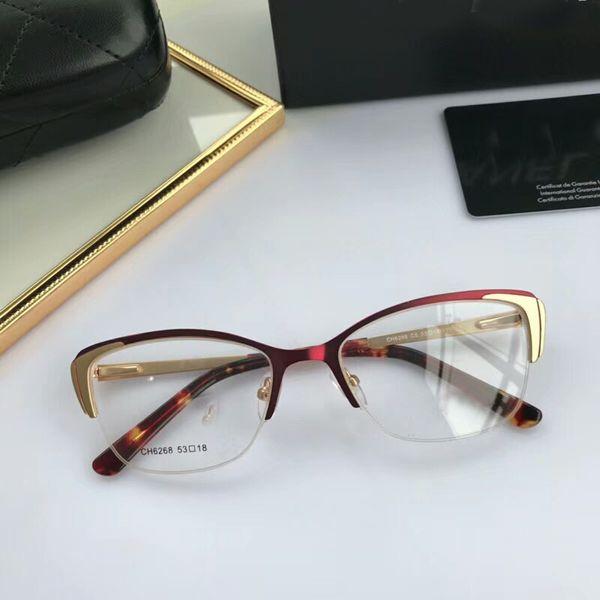 6df1a9078dd Luxury Women s Eyeglasses Half Frame Ladies Cat Eye Glasses Frames For Women  Brand Designer Eyewear Optical