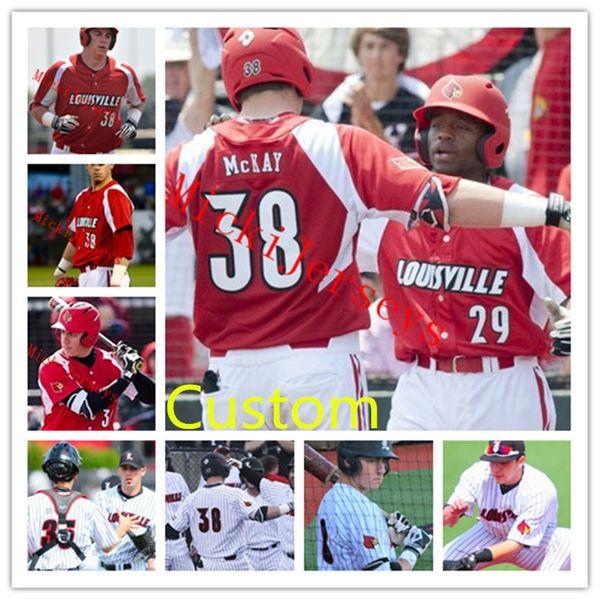 new concept 656e0 a47ad 2019 Mens Custom NCAA Louisville Cardinals COLLEGE Baseball Jersey Rabon  Martin Adam Engel Adam Duvall Brendan McKay Louisville Cardinals Jersey  From ...