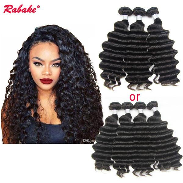 9A Peruvian Virgin Remy Loose Deep Wave Human Hair Weave Bundles Rabake Unprocessed virgin sewing machine Double Wefts Hair Extensions
