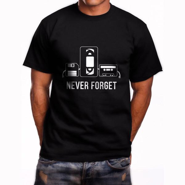 Nuovo Never Forget maglietta nera Taglia S cassetta corta Maglietta a maniche alla 3XL degli uomini di modo superiore del T shirt divertenti T-shirt 2018