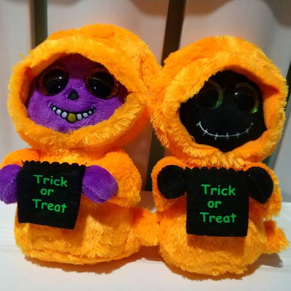 skelton orange/purple reaper halloween gift TY BEANIE BOOS 1PC 15CM Plush Toys Stuffed animals nano dolls All Saints' Day