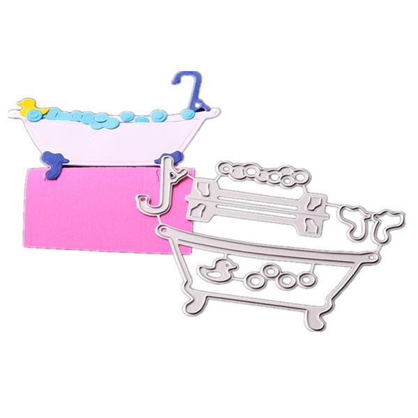 Плашки SPA ванны для ванной комнаты карты Скрапбукинг и бумага Crafts тиснения папки DIY бумаги ремесла машины