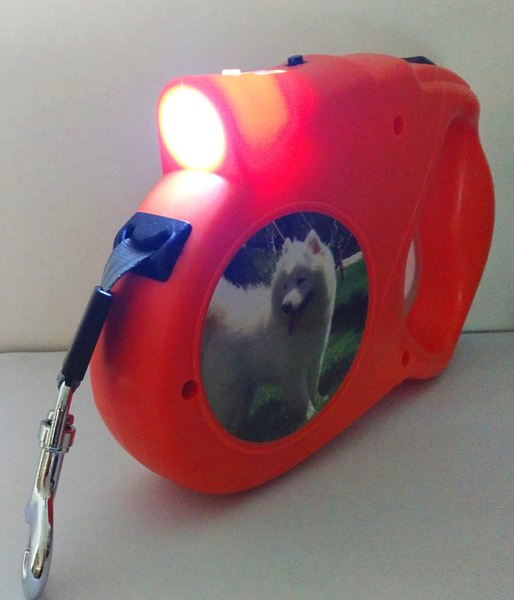 5 м выдвижная поводки свинец 60 кг тяговое усилие домашние животные поводок привести автоматический фонарик собака ходьба свинца для большой собаки